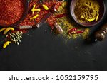 exotically spice mix   spice ... | Shutterstock . vector #1052159795