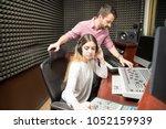 couple of sound technicians...   Shutterstock . vector #1052159939