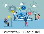 api interface concept.... | Shutterstock .eps vector #1052162801