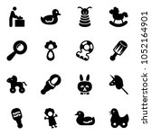 solid vector icon set   baby... | Shutterstock .eps vector #1052164901
