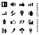 solid vector icon set  ... | Shutterstock .eps vector #1052168405