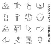 thin line icon set   tablet pc... | Shutterstock .eps vector #1052170019