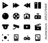 solid vector icon set   play... | Shutterstock .eps vector #1052170469
