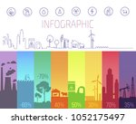 infographic poster with... | Shutterstock .eps vector #1052175497