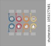 business infographic.vector... | Shutterstock .eps vector #1052177681