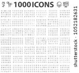 set 1000 icons different theme... | Shutterstock .eps vector #1052182631