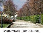footpath in public park ... | Shutterstock . vector #1052183231