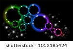 abstract multicolored luminous... | Shutterstock .eps vector #1052185424
