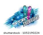 color vector snowboarder....   Shutterstock . vector #1052190224