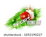 bowling  abstract background ... | Shutterstock . vector #1052190227