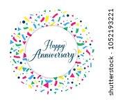 happy anniversary background.... | Shutterstock .eps vector #1052193221