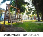 swing park tree | Shutterstock . vector #1052193371