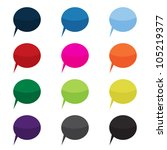 speech bubbles in different... | Shutterstock .eps vector #105219377