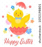 easter typography.happy easter  ... | Shutterstock .eps vector #1052198801