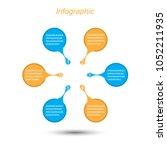 info graphic design template.... | Shutterstock .eps vector #1052211935