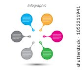 info graphic design template.... | Shutterstock .eps vector #1052211941