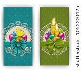 set of elegant template for... | Shutterstock . vector #1052220425