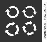 recycling flat vector icon.... | Shutterstock .eps vector #1052223815