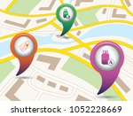set of tourism services map...   Shutterstock .eps vector #1052228669