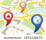 set of tourism services map...   Shutterstock .eps vector #1052228675