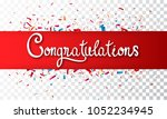 colorful congratulations banner ... | Shutterstock .eps vector #1052234945