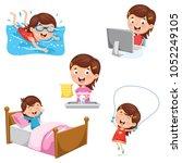 vector illustration of kids... | Shutterstock .eps vector #1052249105