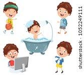 vector illustration of kids... | Shutterstock .eps vector #1052249111