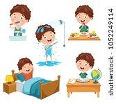 vector illustration of kids... | Shutterstock .eps vector #1052249114