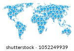 continent map concept designed...   Shutterstock .eps vector #1052249939