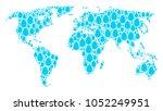 world map concept designed of...   Shutterstock .eps vector #1052249951