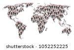 worldwide map concept designed...   Shutterstock .eps vector #1052252225