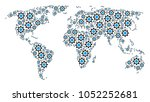 world map composition composed...   Shutterstock .eps vector #1052252681