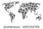 earth atlas collage designed of ...   Shutterstock .eps vector #1052252705