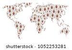 global atlas composition... | Shutterstock .eps vector #1052253281