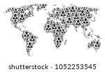 international map pattern...   Shutterstock .eps vector #1052253545