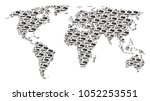 earth atlas composition done of ...   Shutterstock .eps vector #1052253551