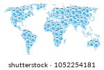 continental map collage...   Shutterstock .eps vector #1052254181