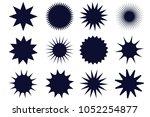 sunburst vector badges. graphic ... | Shutterstock .eps vector #1052254877