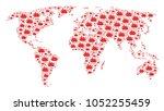 continental map pattern...   Shutterstock .eps vector #1052255459