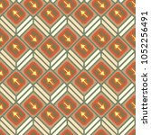 seamless abstract pattern with... | Shutterstock .eps vector #1052256491