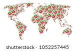 global world atlas composition...   Shutterstock .eps vector #1052257445