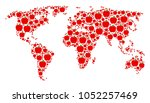 global map concept created of...   Shutterstock .eps vector #1052257469