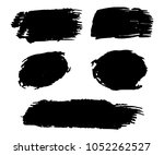 collection of hand drawn black... | Shutterstock .eps vector #1052262527