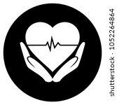 heart beat whit hands icon....   Shutterstock .eps vector #1052264864
