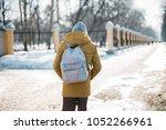 school walk alone. the student... | Shutterstock . vector #1052266961