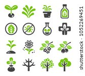 plant icon set | Shutterstock .eps vector #1052269451