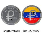 petro  ptr  coin isolated on... | Shutterstock . vector #1052274029