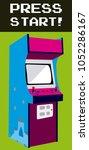 press start to play arcade | Shutterstock .eps vector #1052286167