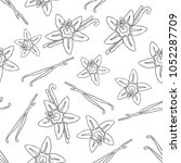 hand draw seamless pattern with ... | Shutterstock .eps vector #1052287709