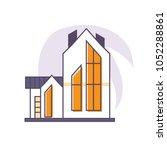vector linear flat illustration ... | Shutterstock .eps vector #1052288861